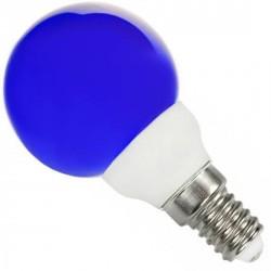 Ampoule sphérique E14 bleue 220 volts 0.5 Watt