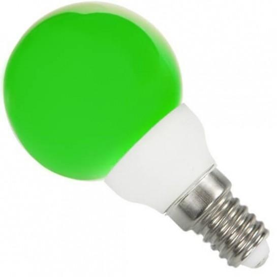 Ampoule sphérique E14 verte 220 volts 0.5 Watt
