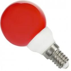 Ampoule sphérique E14 rouge 220 volts 0.5 Watt