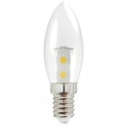 Ampoule mini flamme E14 SMD 5050 7 leds 230 volts