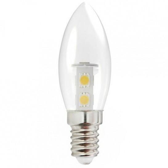 Ampoule mini flamme E14 SMD 5050 7 leds 230 volts