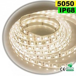 Strip Led blanc chaud leger SMD 5050 IP68 60leds/m 5m