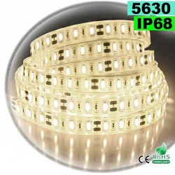 Strip LED blanc chaud léger SMD 5630 IP68 60 LED / m 5m