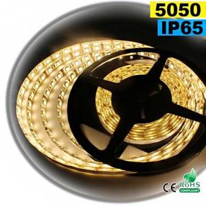 Strip Led blanc chaud SMD 5050 IP65 60leds/m sur mesure