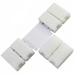 Boitier Clips-connect en T pour Strip LEDs 8mm - Circuit board à 2 pistes entraxe 4.5mm