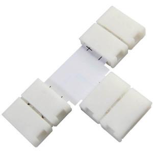 Boitier Clips-connect en T pour Strip LEDs 10mm - Circuit board à 2 pistes entraxe 5mm