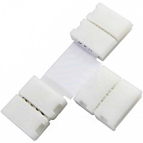 Boitier Clips-connect en T pour Strip LEDs 10mm - Circuit board à 4 pistes entraxe 2,4mm