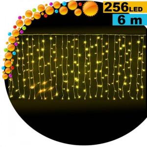 Guirlande rideau lumineux 256 LED soleil 6m