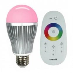 Ampoule LED RVB Sphérique E27 + télécommande tactile