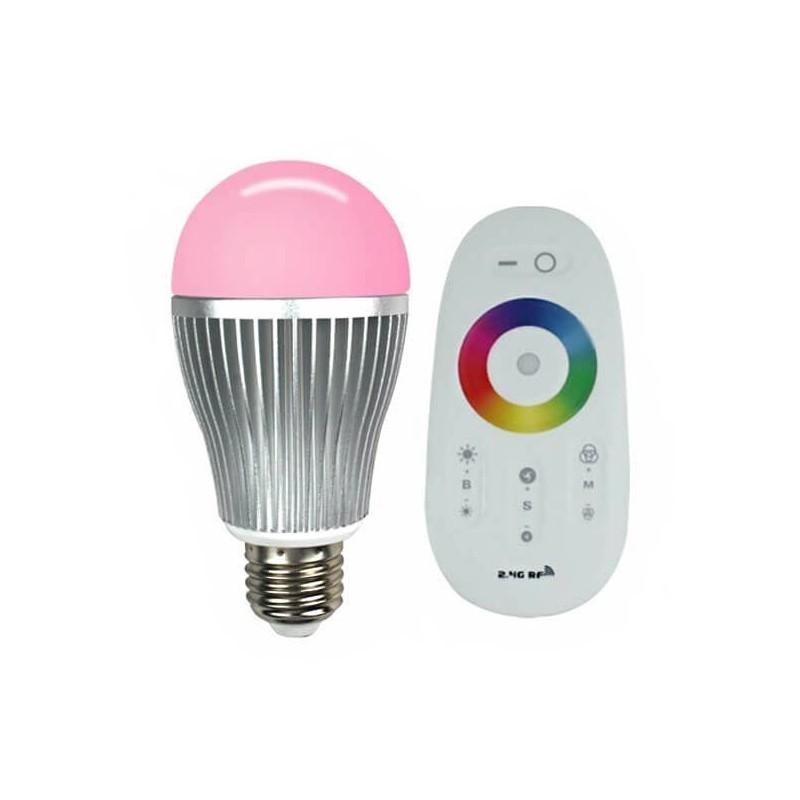 ampoule led rvb sph rique e27 t l commande tactile. Black Bedroom Furniture Sets. Home Design Ideas