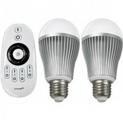 Pack de deux ampoules LED télécommandées Dimma-color