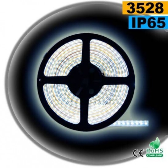Strip LED blanc SMD 3528 IP65 120LED/m 5m