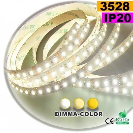 Strip LED dimma-color 3528 ip20 120LED/m