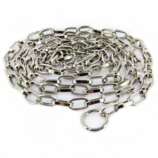 Chaine maille métal chromé longueur 1 m