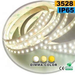 Strip LED dimma-color 3528 ip65 120LED/m 5m