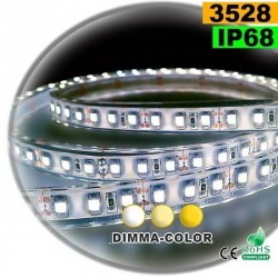 Strip LED dimma-color 3528 ip68 120LED/m 5m