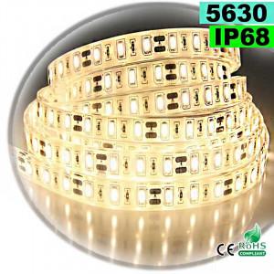 Strip Led blanc chaud SMD 5630 IP68 60leds/m 5m