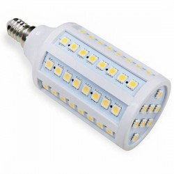 Ampoule 72 LED 230 Volts SMD E14 12 Watts dimmable