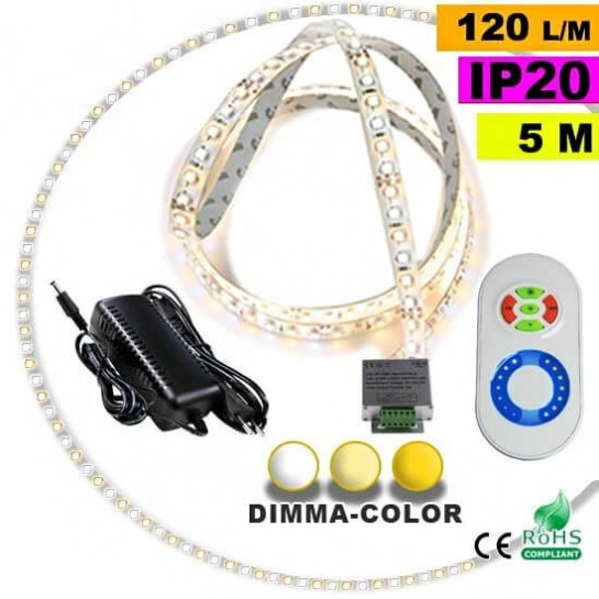 Pack Strip LED 5m Dimma Color 3528 IP20 120LED