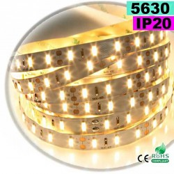 Strip Led blanc chaud SMD 5630 IP20 60leds/m 30 mètres