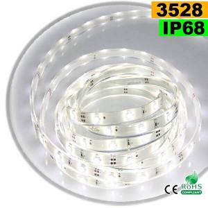 Strip Led blanc SMD 3528 IP68 30leds/m 5m
