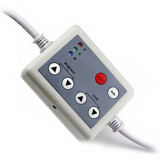 Boîtier de contrôle LED RGB manuel 6 boutons