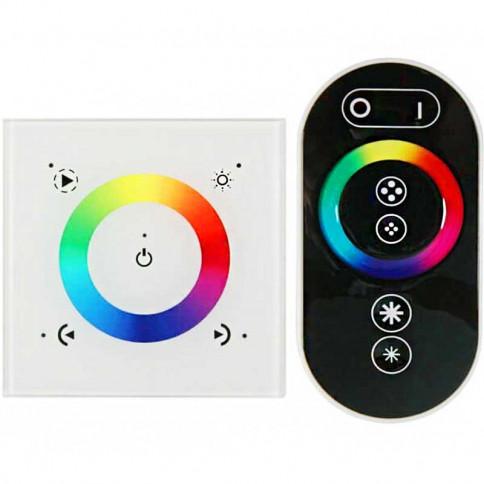 Controleur LED RGB tactile mural avec télécommande