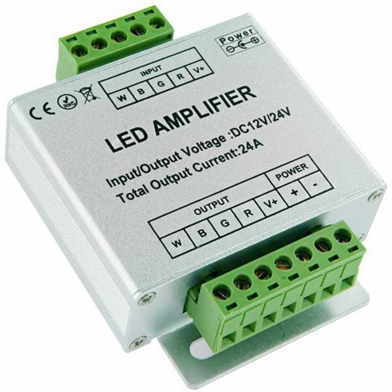 Amplificateur de signal pour rubans led rgb w for Amplificateur de signal cellulaire maison