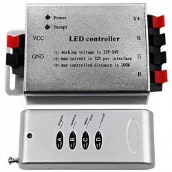 Contrôleur 12V RGB 4A par couleur télécommande 4 touches RF