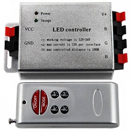 Contrôleur 12V/24V RGB 4A par couleur Télécommande 6 touches RF