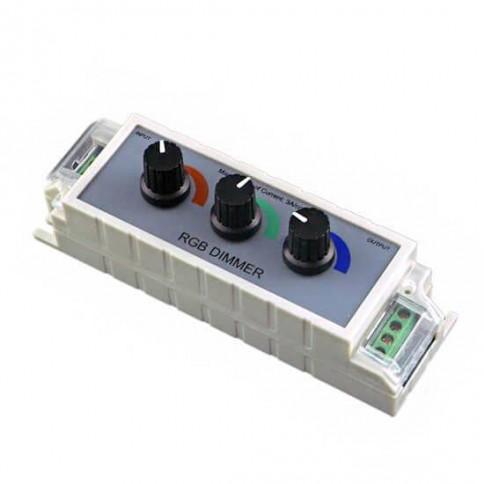 Contrôleur RGB 12V/24V 3A avec 3 boutons rotatifs