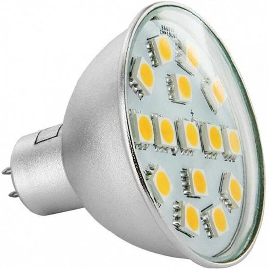 Ampoule 15 LEDs Epistar 5050 MR16