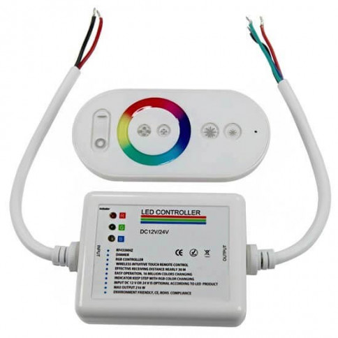 Contrôleur RGB 12V/24V 18A Télécommande tactile RF