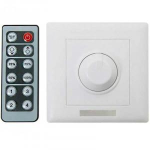Variateur d'intensité encastrable avec télécommande spécial LED 12/24v