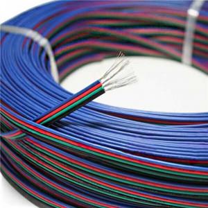 Cable électrique plat RGB quatres couleurs de 0.3mm² longueur de 1m