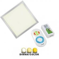 Panneau DIMMA-COLOR à poser 48W 595 x 595mm télécommande tactile