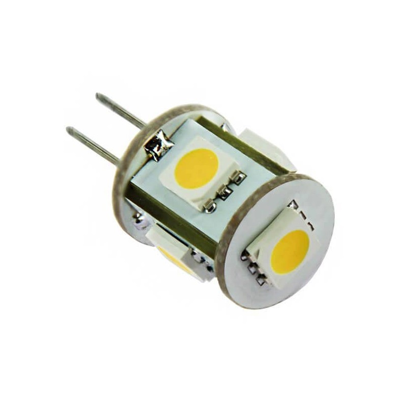 Ampoule 360 5 leds type 5050 smd culot g4 12 volts - Ampoule led 12 volts ...