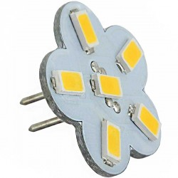 Ampoule flower 6 LED SMD 5730 culot G4 Coaxial