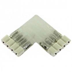Connecteur souple 4 pins 90° à coller pour Strips LED RGB ou DREAM-COLOR