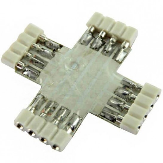 Connecteur X 4 pins femelle extra plat pour Strips LEDs RGB ou DREAM-COLOR