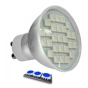 Ampoule LED 27 SMD TYPE 5050 BLEU GU10