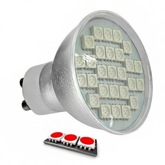 Ampoule LED 27 SMD TYPE 5050 ROUGE GU10