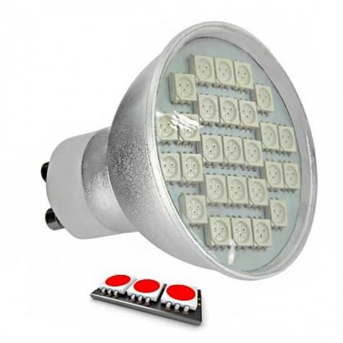 Ampoule LED 27 SMD TYPE 5050 ROUGE GU10