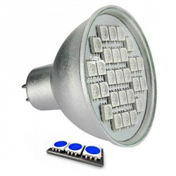Ampoule LED 27 SMD TYPE 5050 BLEU MR16
