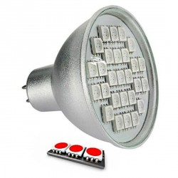 Ampoule LED 27 SMD TYPE 5050 ROUGE MR16