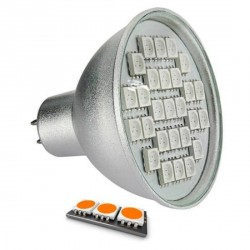 Ampoule LED 27 SMD TYPE 5050 ORANGE MR16