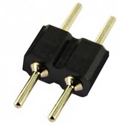 Double raccord 2 pins noir pour strip leds unicolores