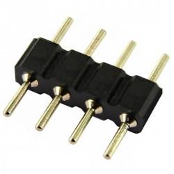 Double raccord 4 pins noir pour strip leds unicolores