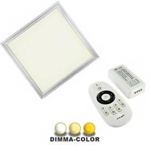 Panneau DIMMA-COLOR à poser 48W 595 x 595mm télécommande 4 canaux