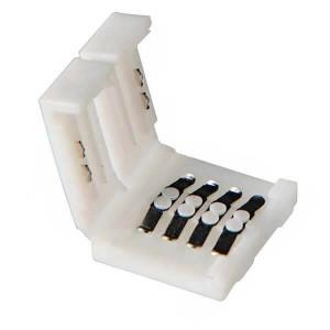 Boitier Clips-connect pour Strip LEDs 10mm - Circuit board à 4 pistes entraxe 2,4mm